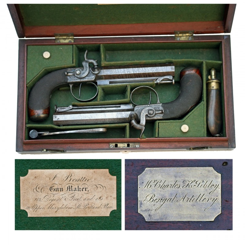 Sibley Filled Case and label etc (Cut-out)